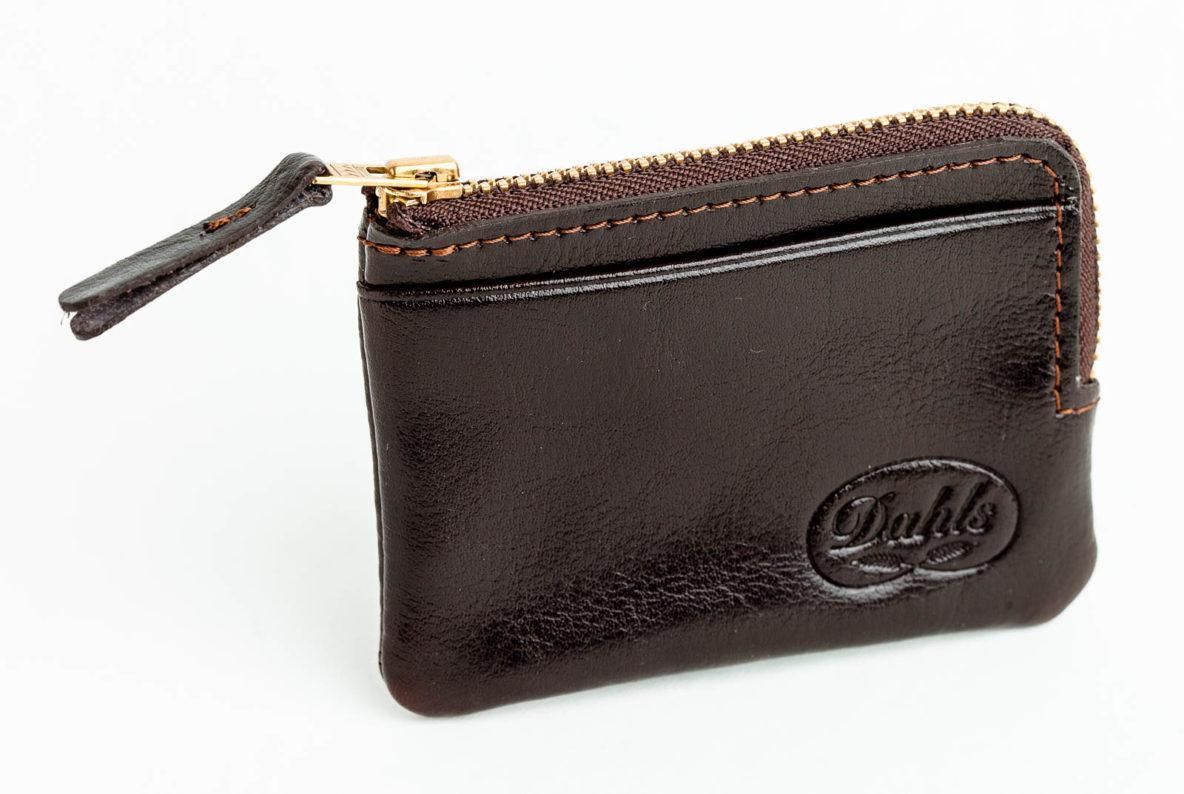 Plånbok för kreditkort sedlar mynt italienskt läder Dahls